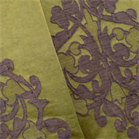 Green/Brown Floral Scroll Home Decorating Fabric