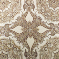 Cream/Brown Star Paisley Jacquard Home Decorating Fabric