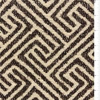 Brown/Cream Tripoli Polyester Home Decorating Fabric