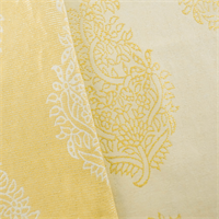 Yellow Ornamental Paisley Jacquard Home Decorating Fabric