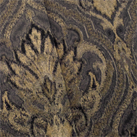 Black/Gold Jacquard Ogee Home Decorating Fabric