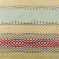 Mint Green/Multicolor Diamond Lane Stripe Home Decorating Fabric