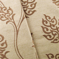 Tan Beige Vine Leaf Home Decorating Fabric