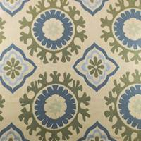 Cotton Green/Beige Jacquard Home Decorating Fabric
