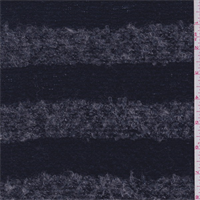 Navy/Grey Stripe Boucle Sweater Knit
