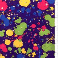 *3/4 YD PC--Purple Splatter Activewear