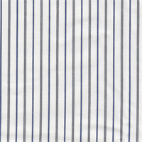 *3 1/2 YD PC--White Striped Cotton