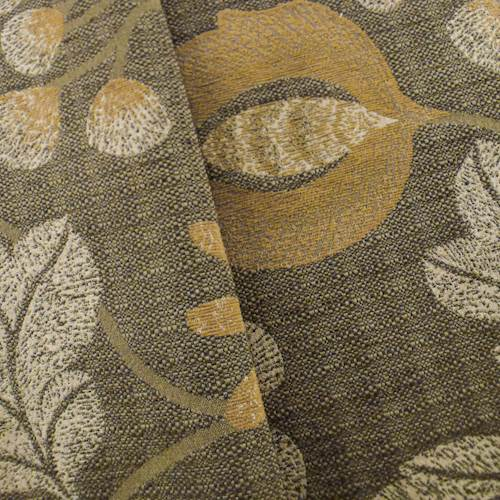 Floral Jacquard Lyric Brown Yellow Home Decorating Fabric Dfw51021