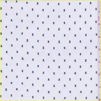 White/Teal Polyester Chiffon