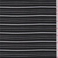 Black Burnout Stripe Organza