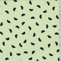 Lime/Black Print Peachskin
