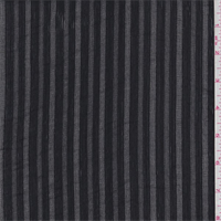 Black Leno Stripe Gauze