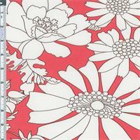 *5 5/8 YD PC--Sweet Nectar Pink Floral Poplin