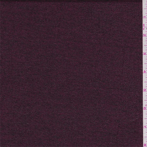 Burgundy space dyed metallic jersey knit 49910 discount for Space dye knit fabric by the yard