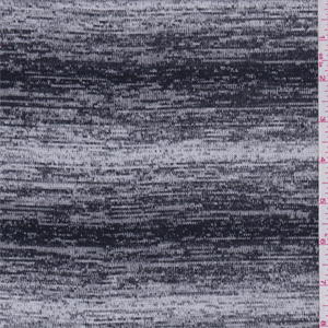 White black space dyed sweater knit 49886 fashion fabrics for Space dye knit fabric by the yard