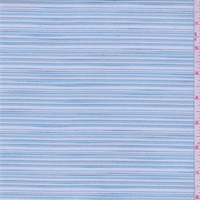Baby Blue Embroidered Stripe Organza
