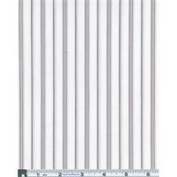 *3 YD PC--White Stretch Poplin Dobby Stripe Shirting