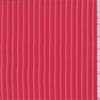 Fire Red Stripe Chiffon