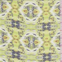 White/Lime Bohemian Print Chiffon