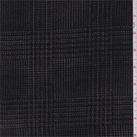 Black/Charcoal Glenplaid Flocked Panne Velvet