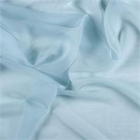 *3 YD PC--Pale Blue Silk Chiffon
