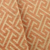 Chenille Woven Maze Orange/Beige Home Decorating Fabric