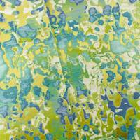 Turquoise/Green Silk Rousseau Jacquard Home Decorating Fabric