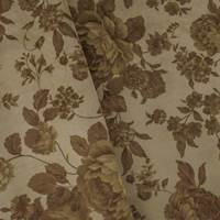 Designer Brown Floral Print Velveteen Performance Home Decorating Fabric