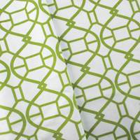 Designer Green/White Rimwork Print Velveteen Performance Home Decorating Fabric