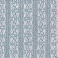 Cloudy Blue Stripe Stretch Lace