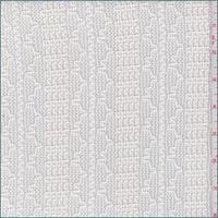 Creamy White Wavy Stripe Sweater Knit
