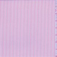 Berry Pink/Grey Pinstripe Polyester Shirting