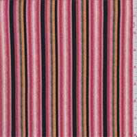 ITY Soft Pink Multi Stripe Jersey Knit