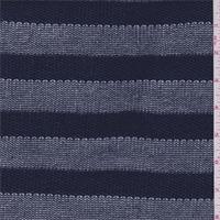 Navy Blue Stripe Sweater Knit