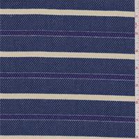 Blue/Beige Stripe Pique