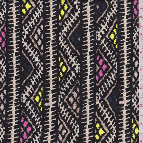 Black Zig Zag Stripe Cotton Lawn 60518 Fashion Fabrics