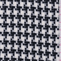 Black/White Basketweave Suiting