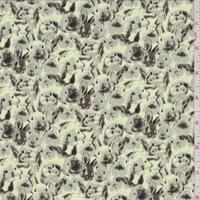 Lime/Grey Bunny Chiffon