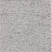 Misty Grey Shimmer Crinkled Crepe