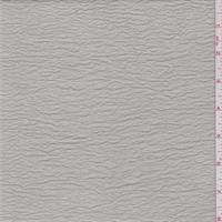 Misty Grey Shimmer Crinkled Crepe