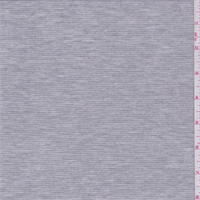 Heather Grey Stripe Jersey Knit