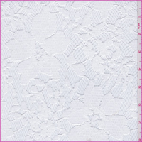 White Floral Polyester Lace