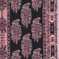 Black Multi Wallpaper Stripe Crepe de Chine