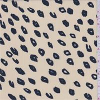 Sandy Beige Cheetah Print Crinkle Chiffon