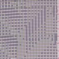 Pink/Sage/Grey Grid Print Stretch Twill