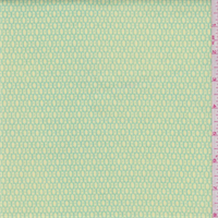 Lemon/Turquoise Lattice Print Stretch Twill