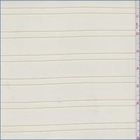 Golden Beige Embroidered Stripe Mesh