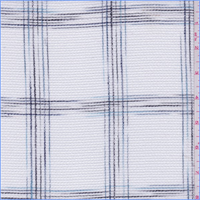 White/Blue/Black Check Macrame Lace