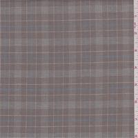 Brown/White/Blue Plaid Shirting