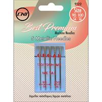 Metallic Needles 5/Pkg-Sizes 90/14, 100/16